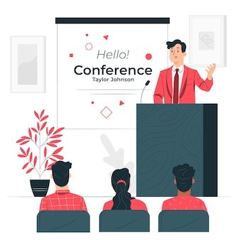 Ilustração do conceito de conferência
