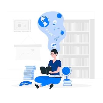 Ilustração do conceito de conhecimento