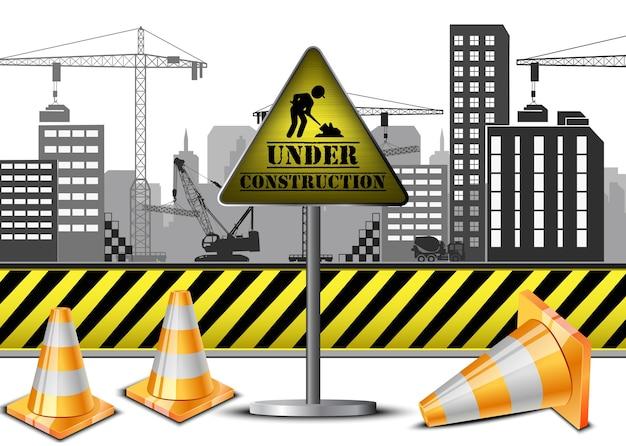 Ilustração do conceito de construção