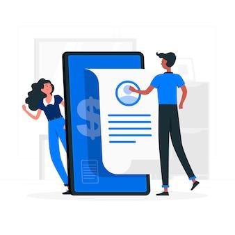 Ilustração do conceito de conta