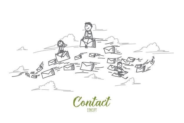 Ilustração do conceito de contato
