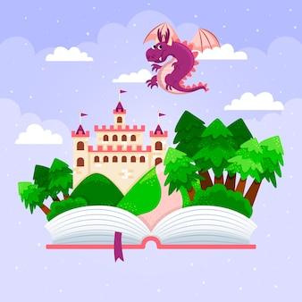 Ilustração do conceito de conto de fadas mágico