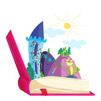 Ilustração do conceito de conto de fadas