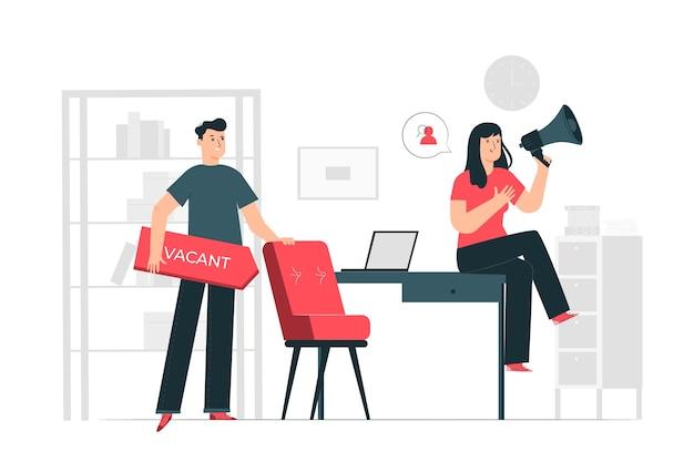 Ilustração do conceito de contratação