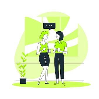 Ilustração do conceito de conversa