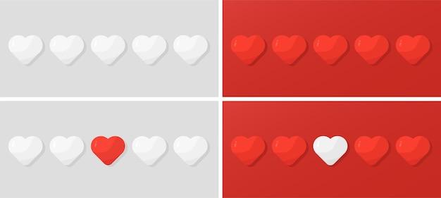 Ilustração do conceito de corações de amor