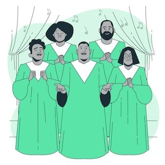 Ilustração do conceito de coral gospel