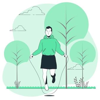 Ilustração do conceito de corda de pular