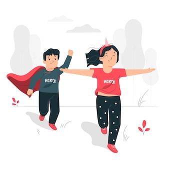 Ilustração do conceito de crianças