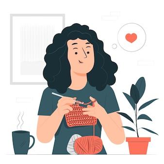 Ilustração do conceito de crochê