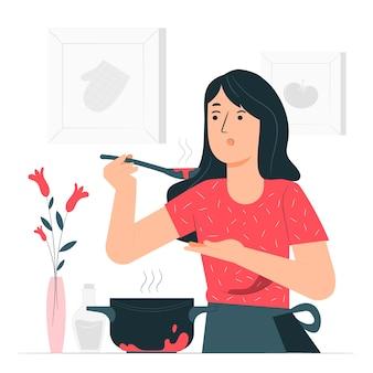 Ilustração do conceito de culinária