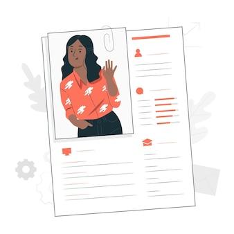 Ilustração do conceito de dados do perfil