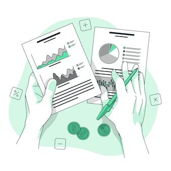 Ilustração do conceito de dados financeiros