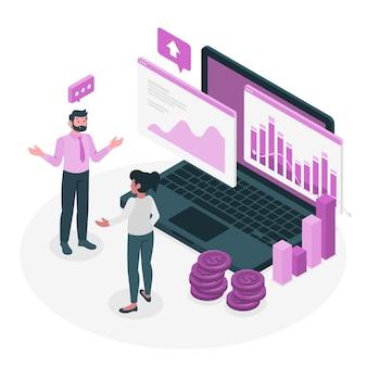 Ilustração do conceito de dados financeiros Vetor grátis