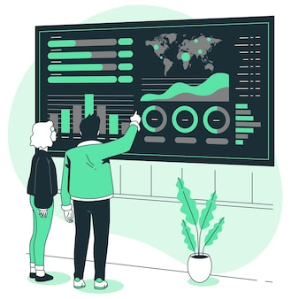 Ilustração do conceito de dados visuais