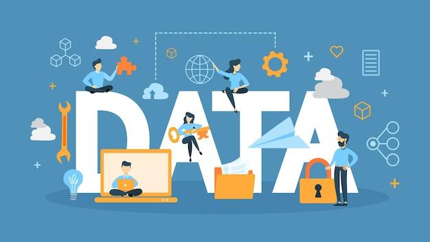 Ilustração do conceito de dados.
