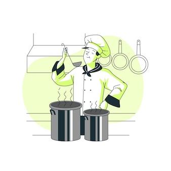 Ilustração do conceito de degustação
