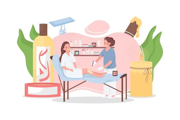 Ilustração do conceito de depilação plana