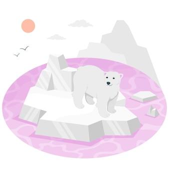 Ilustração do conceito de derretimento de gelo
