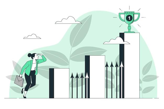 Ilustração do conceito de desafio empresarial