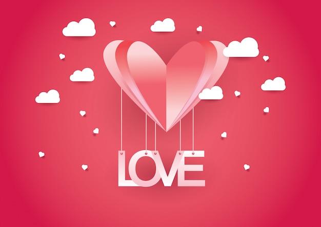 Ilustração do conceito de design de amor e dia dos namorados