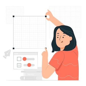 Ilustração do conceito de design de grade