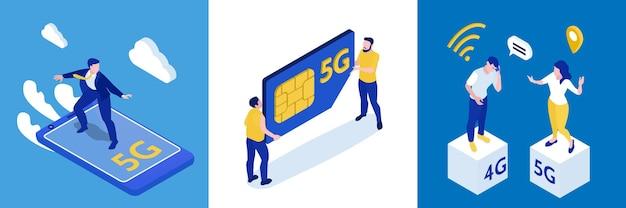 Ilustração do conceito de design de internet 5g de alta velocidade