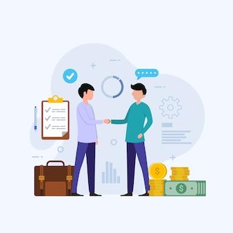 Ilustração do conceito de design de investimento empresarial