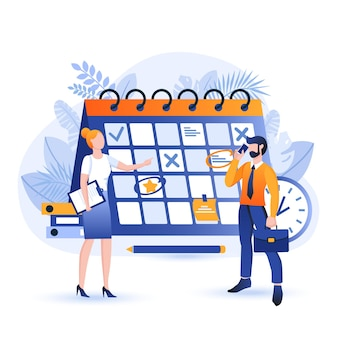 Ilustração do conceito de design plano de planejamento de negócios