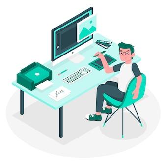 Ilustração do conceito de designer