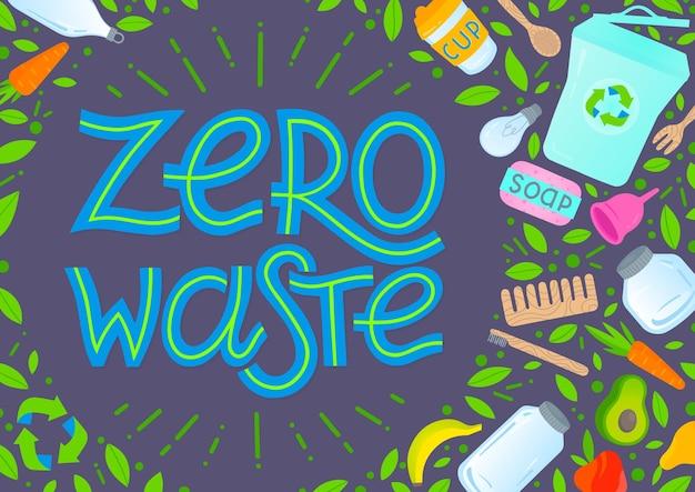 Ilustração do conceito de desperdício zero