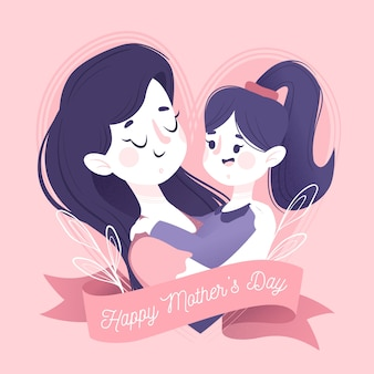 Ilustração do conceito de dia das mães