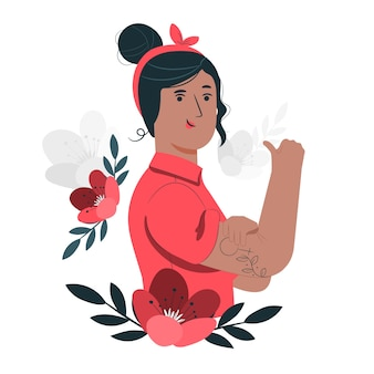 Ilustração do conceito de dia das mulheres