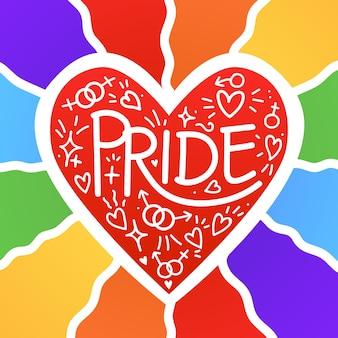 Ilustração do conceito de dia do orgulho