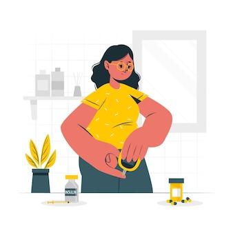 Ilustração do conceito de diabetes