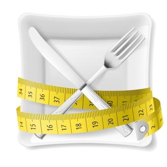 Ilustração do conceito de dieta