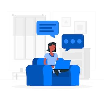 Ilustração do conceito de digitação