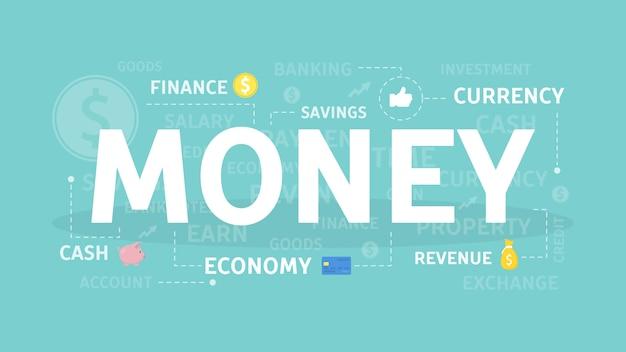 Ilustração do conceito de dinheiro.