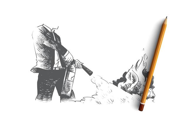 Ilustração do conceito de dispensa