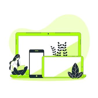 Ilustração do conceito de dispositivos
