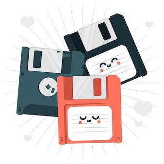Ilustração do conceito de disquete