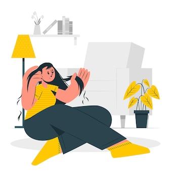 Ilustração do conceito de distúrbio que puxa os cabelos