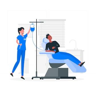 Ilustração do conceito de doação de sangue