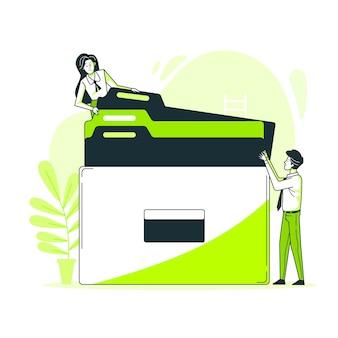 Ilustração do conceito de documentos