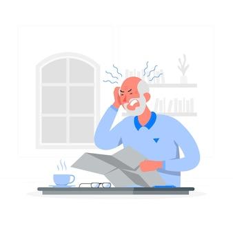Ilustração do conceito de dor de cabeça