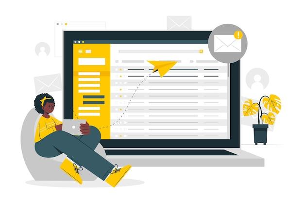 Ilustração do conceito de e-mail