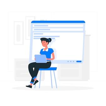 Ilustração do conceito de e-mails