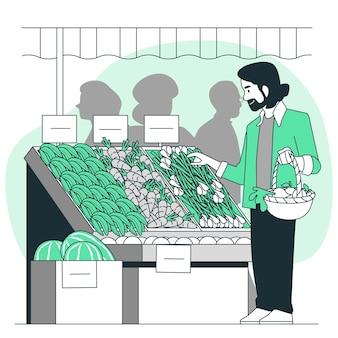 Ilustração do conceito de eco shopping