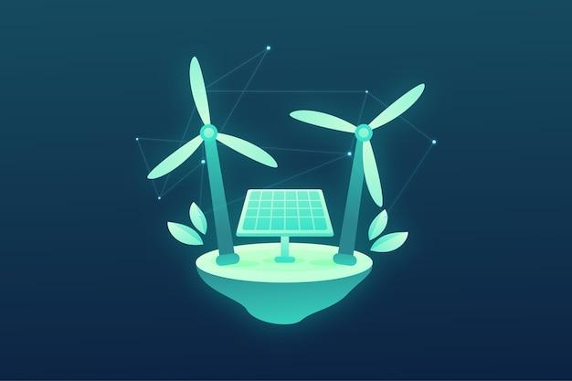 Ilustração do conceito de ecologia tecnológica