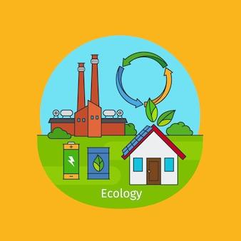 Ilustração do conceito de ecologia